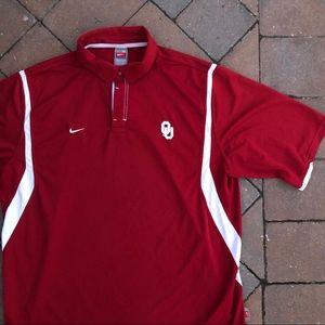 Nike Shirts - Oklahoma University Nike DriFit Golf Polo XL